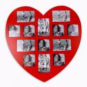 Fotorahmen Herz rot