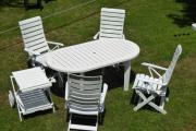 Gartengarnitur - Tisch, Stühle,