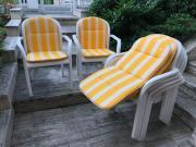 Gartenstühle mit Polsterauflage