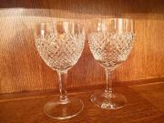 Geschliffene Bleikristall-Gläser und -Karaffe
