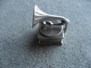 Grammophon Miniatur aus Zinn