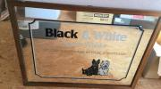 Großer Original Black White Barspiegel