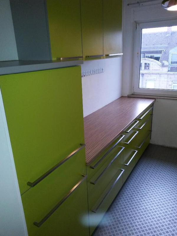 grüne einbauküche , küche, küchenzeile - mömax. wie neu! in fürth ... - Küche Mömax