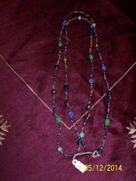 Schmuck, Brillen, Edelmetalle - IDEALES GESCHENK Halskette in blau