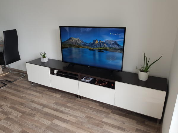 tv bank ikea lack tv bank birkenachbildung einrichten. Black Bedroom Furniture Sets. Home Design Ideas