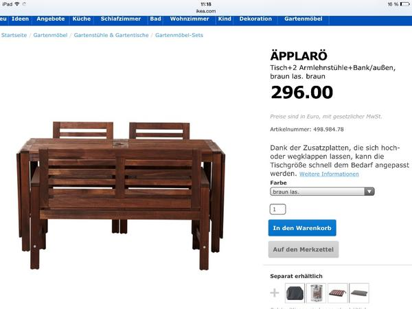 gartenm bel set ikea my blog. Black Bedroom Furniture Sets. Home Design Ideas