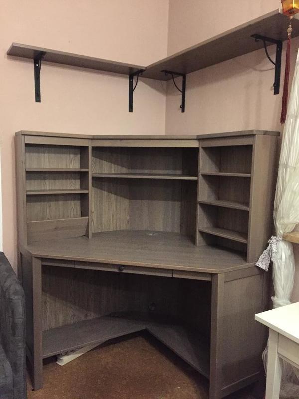ikea hemnes eckschreibtisch in m nchen ikea m bel kaufen. Black Bedroom Furniture Sets. Home Design Ideas