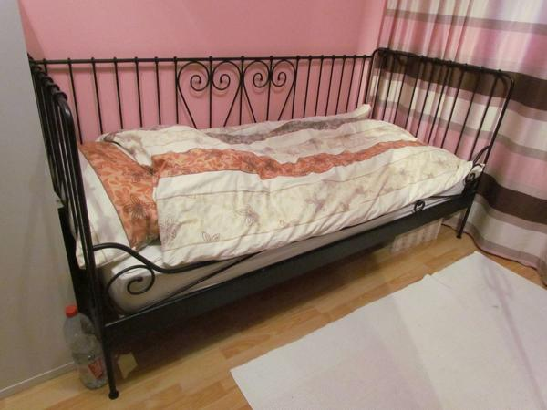 ikea bett weiaa aa aa metall gebraucht kaufen nur 3 st bis 75 g nstiger. Black Bedroom Furniture Sets. Home Design Ideas