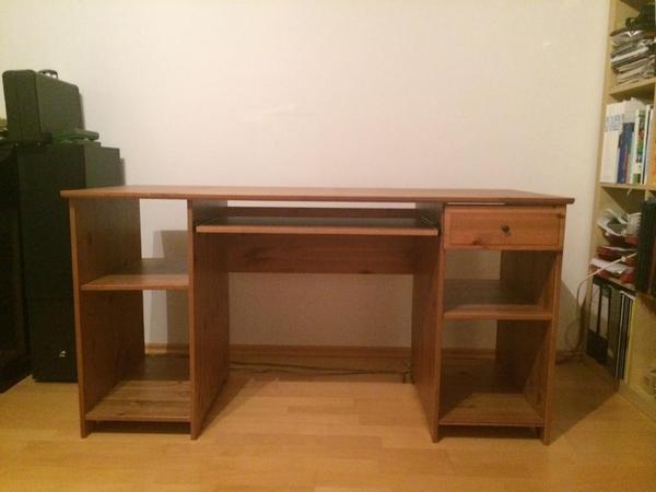 schreibtisch holz dunkel. Black Bedroom Furniture Sets. Home Design Ideas