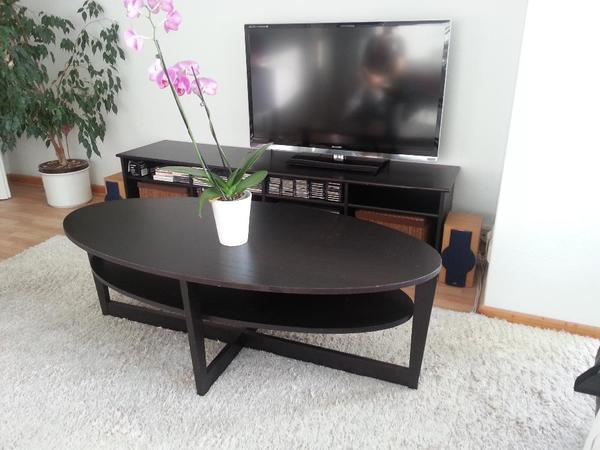 ikea tisch vejmon couti wohnzimmertisch couchtisch oval schwarzbraun in hannover ikea m bel. Black Bedroom Furniture Sets. Home Design Ideas