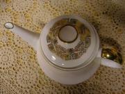 Kaffeekanne mit Goldrand Bavaria Porzellan