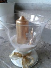 Kerzenglas incl. Deko