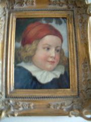 Kinderportrait mit Barockrahmen