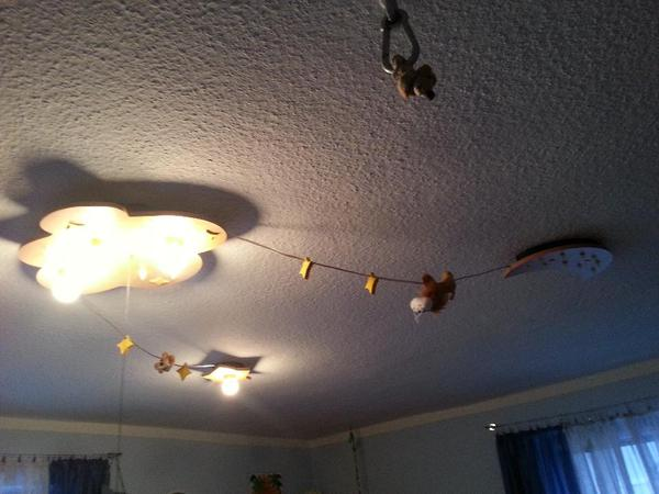 kinderzimmerlampe dimmbar mit sternenlicht in f rth baby. Black Bedroom Furniture Sets. Home Design Ideas