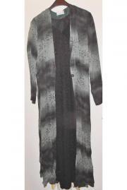 Kleid Abendkleid zweiteilig schwarz Gr