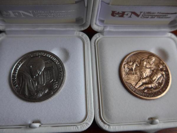 Kleine Rarität - Vatikan Medaillen 925er