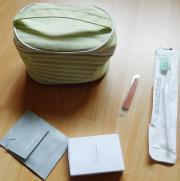 Kosmetiktäschchen 15x10x9 cm oval mit