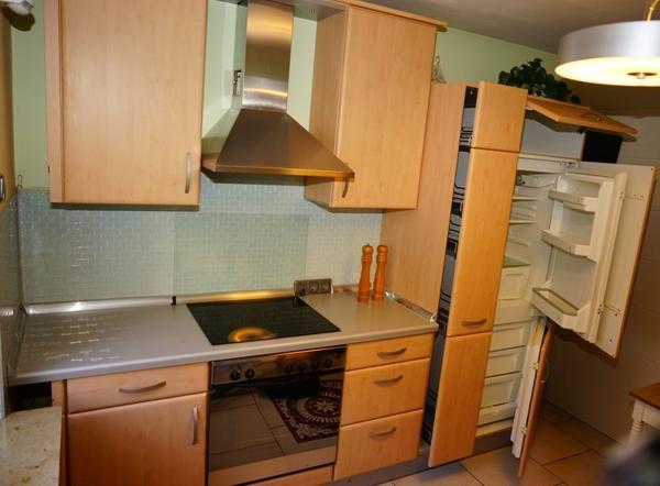 kuchenzeile buche gebraucht kaufen nur 2 st bis 75. Black Bedroom Furniture Sets. Home Design Ideas