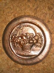 Kupferteller Obstkorb Wandteller