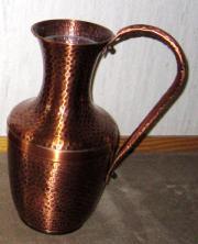 Kupfervase Bodenvase