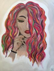 Lady with Rainbow -