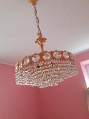 Lampenschirm vergoldet mit