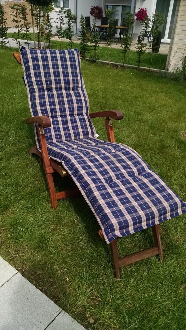 liegestuhl mit relaxfunktion, holz mit auflage in markt indersdorf, Gartenmöbel