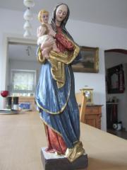 Madonna Holz 33 cm geschnitzt