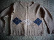 Mädchenbekleidung Pullover Kurz-Pullover mit Rhombenmuster
