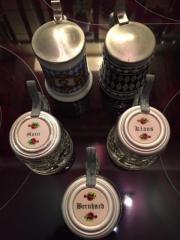 Mini Bierkrüge mit Zinndeckel Klaus