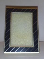 Mini-Bilderrahmen - blau gold - 6 x