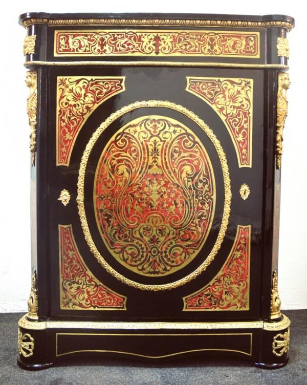 napoleon iii boulle kabinettschrank frankreich 1880 restauriert original in r bsch tz. Black Bedroom Furniture Sets. Home Design Ideas