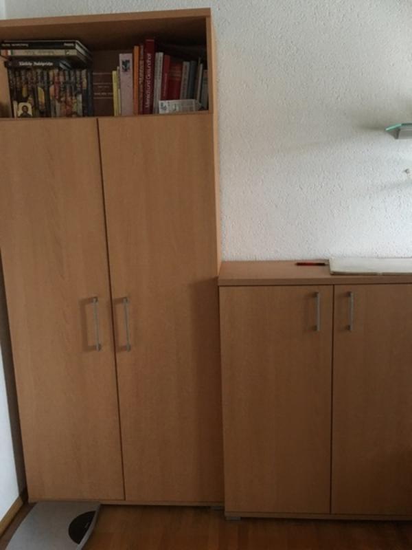 neuwertige wohnzimmer wohnwand mit kommode variabel aufstellbar in bregenz. Black Bedroom Furniture Sets. Home Design Ideas
