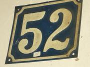 Nostalgie Hausnummer aus Blech