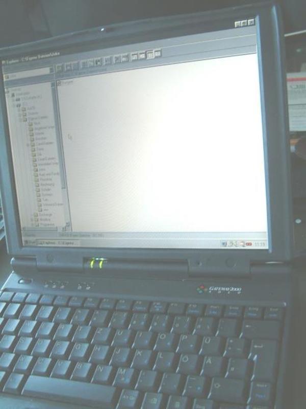 Notebook Gateway 2000 solo mit