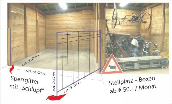 Oldtimer Stellplatz-Boxen