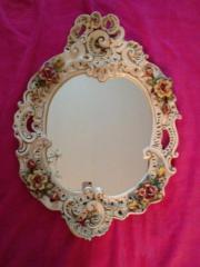 ovaler Wandbarockspiegel aus