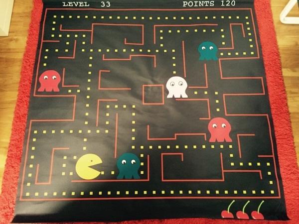 Pac-Man Banner - Rastatt - Ich verkaufe ein sehr gut erhaltenes Pac-Man Stoff-Banner ca. 120x120cm. - Rastatt