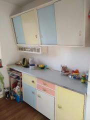 Pastellfarbene Küchenzeile aus