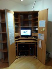 pc schrank b ro schrank in unterschlei heim schr nke sonstige schlafzimmerm bel kaufen und. Black Bedroom Furniture Sets. Home Design Ideas
