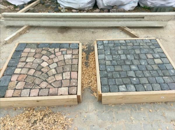 porphyr pflastersteine kopfsteinpflaster pflaster basalt in undenheim sonstiges material f r. Black Bedroom Furniture Sets. Home Design Ideas