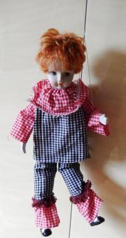 Porzellan-Marionetten-Puppe Harlekin
