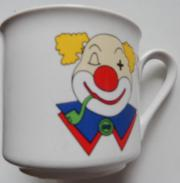Porzellantasse Clown ca 7 cm