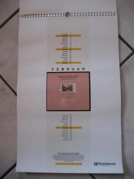 Postdienst Kalender von 1992 mit: Kleinanzeigen aus Birkenheide Feuerberg - Rubrik Sonstige Sammlungen