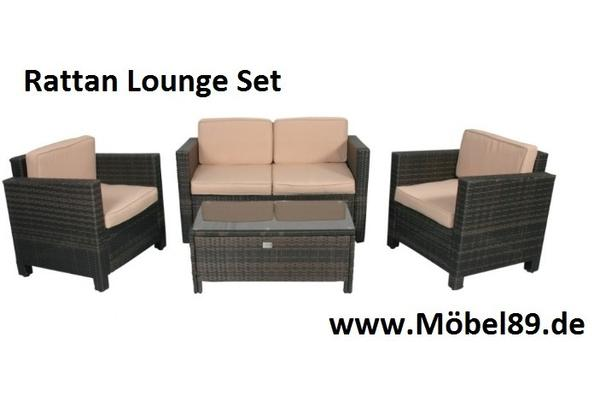 rattangeflecht rattan sitzgruppe 4 teilig neu lieferung m glich in eching gartenm bel kaufen. Black Bedroom Furniture Sets. Home Design Ideas