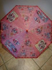 Rosafarbener Diddlmausschirm, Taschenschirm,