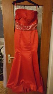 rotes Abendkleid Gr.