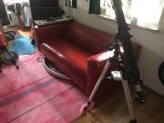 Rotes Sofa Echtes