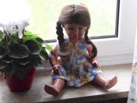 Puppen - Schildkröt Puppe 50er Jahre