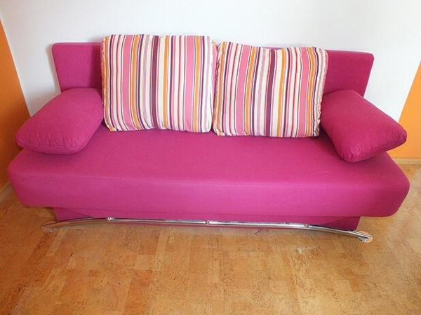 schlafsofa pink bestseller shop f r m bel und einrichtungen. Black Bedroom Furniture Sets. Home Design Ideas